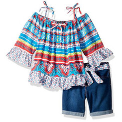 Limited Too Toddler Girls' Fashion Top and Denim Short Set - 12-18M