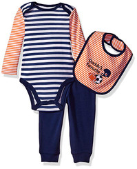 Best Beginnings Baby Boys' Bodysuit Pant Set, Navy Multi - New Born