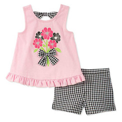 Kids Headquarters Girls' Little 2 Pieces Shorts Set