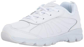 Stride Rite Kids' Cooper 2.0 White Leather Lace up Sneaker  - Big kid