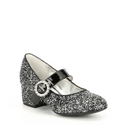 Nina Girls' Dulce Pump Shoe, Black/Silver - Big Kid