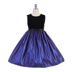 Crayon Kids Special Occasion Dress - Royal Blue - 7/8 Years