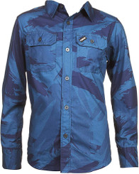 TONY HAWK Long Sleeve Button Down Shirt Blue - 17/19yrs