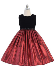 Crayon Kids Special Occasion Dress -Blk/Red - Girls 4 -6