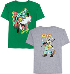 Disney 2 Pack of Goofy Movie Graphic T-Shirts - 7Years