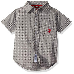 U.S. Polo Assn.  Short Sleeve Printed Woven Shirt - 14/16Years