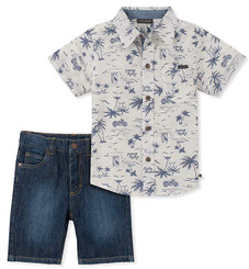 Lucky Brand 2 Pieces Shirt Shorts Set - 9/12M