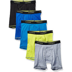 Hanes Pack Of 5 Perforated Boxers For Big Boys