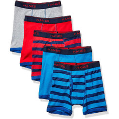 Hanes pack Of 5 Multicolored Boxers - size 18/20