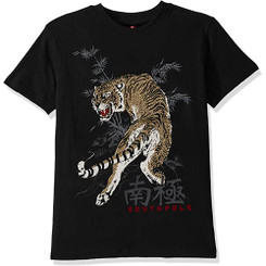 Southpole - Kids  Short Sleeve Rhinestone Tee, Black Tiger 13/14 Yrs