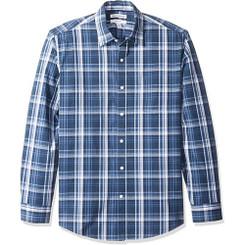 Regular-Fit Long-Sleeve  Shirt, Navy - 17-19Yrs