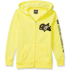 SouthPole Hooded Long Sleeves Zipper Sweater - Yellow 15/17Yrs