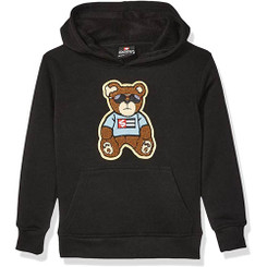 Southpole - Kids  Fleece Hooded Pullover, Black Bear - 5/6 Yrs
