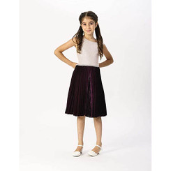 Emily West Pleated Skirt With Gold Bodice Holiday Dress - 8/9Yrs
