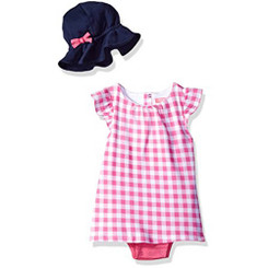 Isaac Mizrahi Baby Girls' 2 Piece Sundress with Sunhat
