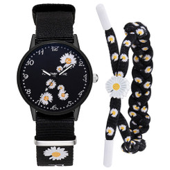 Daisy Flower Dial  Watch With Bracelet - Multi Daisy