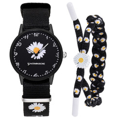 Daisy Flower Dial  Watch With Bracelet - Single  Daisy