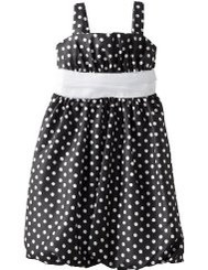 Rare Editions Big Girls Dot Shantung Dress Girls 7-16
