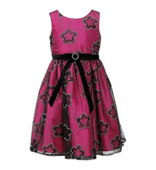 SWEET HEART ROSE  Burgundy Special Occasion Dress - Girls  (9/12 mths )