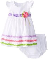 Rare Editions Infant Seersucker Dress  - 18/24mths