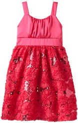 Rare Editions GIRLS SOUTACH DRESS - PINK
