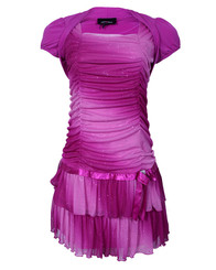 Amy Byer Little Girls' Ombre Two Tier With Shrug | Pink