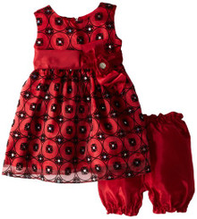 Jayne Copeland Baby-Girls Infant Circle Flock Organza - 9/12M