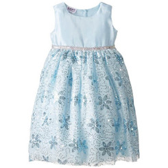 Blueberi Boulevard Little Girls' Flower Detail Occasion Dress