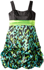 Ruby Rox leopard pick up dress - Girls 5 - 6 years