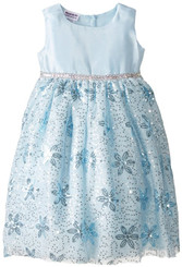 Blueberi Boulevard FLOWER DETAIL OCCASION DRESS - Girls 4-6