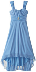 Ruby Rox Big Girls' Matte Jersey Dress with Rouched Bodice