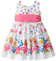 Jayne Copeland Little Girls' Dressy Cotton Border - Toddler
