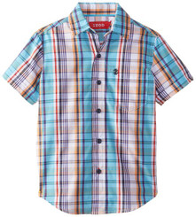 Izod Little Boys' Short Sleeve Woven Plaid Shirt - 6yrs