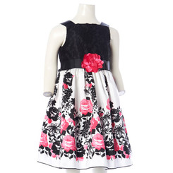SWEET HEART ROSE GIRLS LACE TOP FLORAL DRESS - 4Yrs
