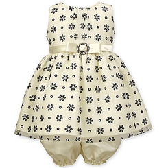 Jayne Copeland Baby Girls' Flock Daisy Glitter, Ivory - ( 9/12Mths )