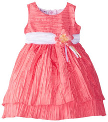 Blueberi Boulevard Baby Girls' Crinkle Dress - 12-18Months