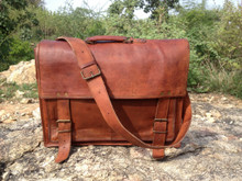 18 inch leather messenger bag / laptop / office bag