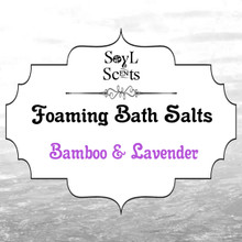 "Bamboo & Lavender ""Foaming Bath Salt"""