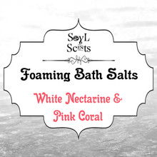 "White Nectarine & Pink Coral ""Foaming Bath Salt"""