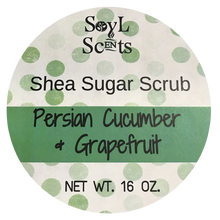 "Persian Cucumber & Grapefruit ""Shea Sugar Scrub"""