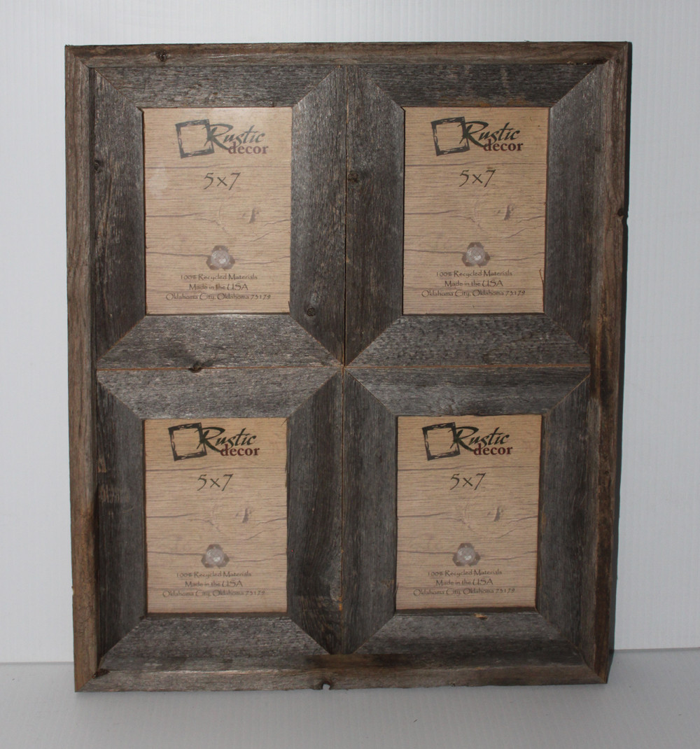Rustic Barn Wood Window Frame Holds 5x7 Pictures