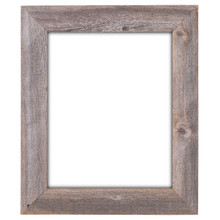 16x20 Picture Frames – Barnwood Reclaimed Wood Extra Wide Wall Frame (No Plexiglass or Back)