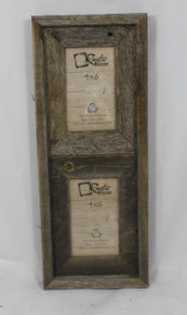 4x6 Rustic Reclaimed Barn Wood Vertical Double Opening Frame