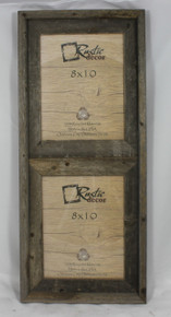 8x10 Rustic Reclaimed Barn Wood Vertical Double Opening Frame