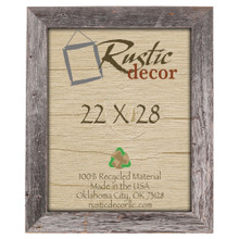 22x28 Rustic Reclaimed Barn Wood Extra Wide Wall Frame