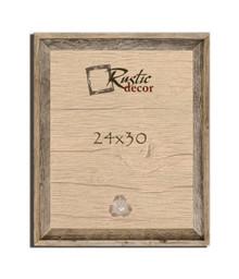 24x30 Rustic Reclaimed Barn Wood Signature Wall Frame