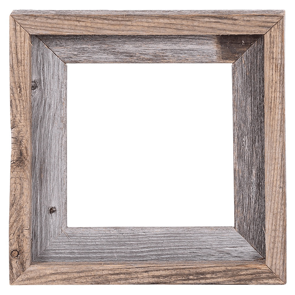 8x8 Picture Frames – Reclaimed Barn Wood Open Frame (No Glass or ...