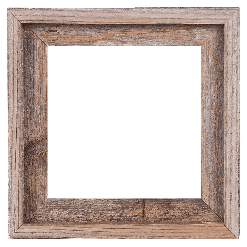 10x10 Picture Frames – Reclaimed Barn Wood Open Frame (No Glass or ...