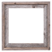 12x12 Picture Frames – Reclaimed Barn Wood Open Frame (No Glass or Back)
