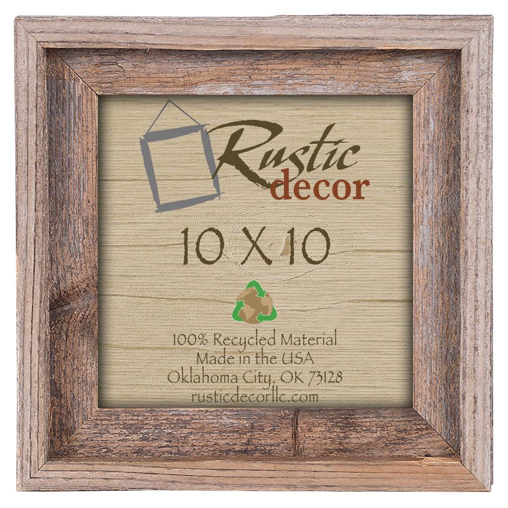 10x10 Rustic Reclaimed Barn Wood Signature Wall Frame - Rustic Decor